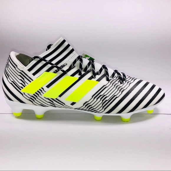 16a6f3a4accd Adidas Nemeziz 17.3 FG White   Black Soccer Cleats